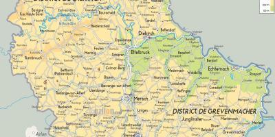 Europa Fisica Cartina Da Stampare.Lussemburgo Cartina Fisica Mappa Di Lussemburgo Fisica Europa Occidentale Europa